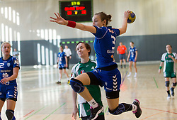 Iris Guberinic during last game of 1st A Slovenian Women Handball League season 2011/12 between ZRK Krka and RK Krim Mercator, on May 8, 2012 in Stopice at Novo mesto, Slovenia. RK Krim Mercator became Slovenian National Champion, GEN-I Zagorje placed second and ZRK Krka placed third. (Photo by Vid Ponikvar / Sportida.com)
