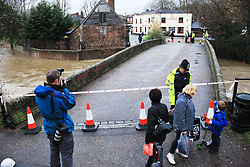 © Licensed to London News Pictures.  20/12/2012. FAREHAM, UK  General view of the scene in Wallington, near Fareham. The village has been evacuated after engineers found cracks in a key flood defence wall. The Environment agency issued a severe flooding warning as a result. Photo credit : LNP