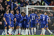GOAL - Chelsea Midfielder Willian celebrates with Chelsea Midfielder Callum Hudson-Odoi 3-0 during the The FA Cup fourth round match between Chelsea and Sheffield Wednesday at Stamford Bridge, London, England on 27 January 2019.