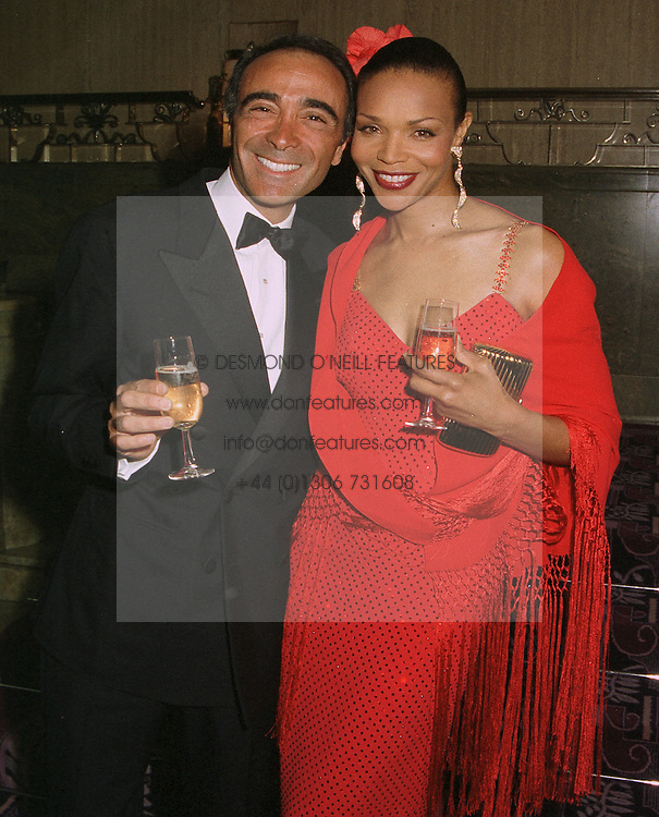 MR JOSE BELMONDE and MRS VALERIE CAMPBELL mother of supermodel Naomi Campbell, at a ball in London on April 8th 1997.LXM 29