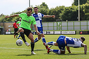 Forest Green Rovers Christian Doidge(9) controls the ball during the Pre-Season Friendly match between Forest Green Rovers and Bristol Rovers at the New Lawn, Forest Green, United Kingdom on 21 July 2018. Picture by Shane Healey.