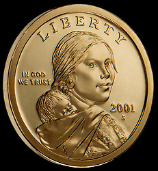 United States gold dollar coin