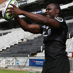 DURBAN, SOUTH AFRICA - APRIL 13: Chiliboy Ralepelle of the Cell C Sharks during the Cell C Sharks captains run at Jonnsons Kings Park on April 13, 2017 in Durban, South Africa. (Photo by Steve Haag/Gallo Images)