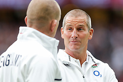 England Head Coach Stuart Lancaster looks on after England win the match 21-13 - Mandatory byline: Rogan Thomson/JMP - 07966 386802 - 05/09/2015 - RUGBY UNION - Twickenham Stadium - London, England - England v Ireland - QBE Internationals 2015.