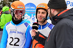 Super Combined and Super G, BERTAGNOLLI Giacomo Guide: CASAL Fabrizio, B3, ITA at the WPAS_2019 Alpine Skiing World Championships, Kranjska Gora, Slovenia