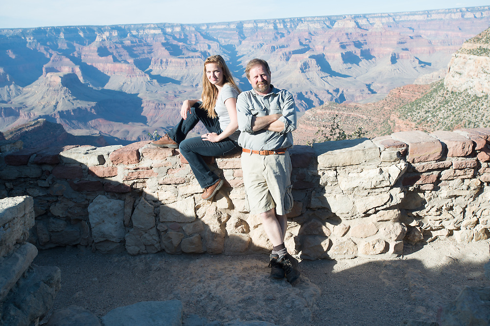 Two Travelers in the Grand Canyon