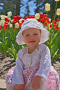 Young girl in horticultural gardens<br />