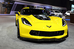 11 February 2016:  Chevrolet Corvette Z06.<br /> <br /> First staged in 1901, the Chicago Auto Show is the largest auto show in North America and has been held more times than any other auto exposition on the continent.  It has been  presented by the Chicago Automobile Trade Association (CATA) since 1935.  It is held at McCormick Place, Chicago Illinois<br /> #CAS16