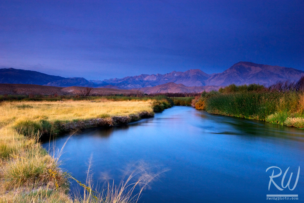 Owens River at Dawn, Owens Valley, California