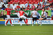 Charlton Athletic forward Ademola Lookman (7) scoring equiliser 1-1 during the EFL Sky Bet Championship match between Charlton Athletic and Bolton Wanderers at The Valley, London, England on 27 August 2016. Photo by Matthew Redman.