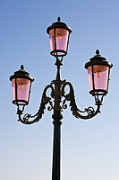 public lighting in the beautiful city of venice in italy