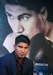 June 20, 2017 - Los Angeles, California, U.S - Mikey Garcia during a press conference to promote their  boxing match - Adrien Broner and Mikey Garcia super  lightweight showdown - held on Tuesday, June 20th, 2017,  at The Conga Room in Los Angeles, California. JAVIER  ROJAS/PI (Credit Image: © Prensa Internacional via ZUMA Wire)