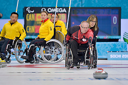 Dennis Thiessen, Sonja Gaudet, Wheelchair Curling Semi Finals at the 2014 Sochi Winter Paralympic Games, Russia