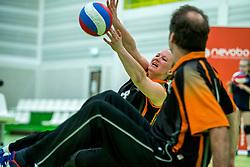 28-04-2018 NED: NK Zitvolleybal, Koog aan de Zaan<br /> vv Apollo Mill wint de kleine finale van het NK zitvolleybal met 3-2 van VC Allvo / Fleur van Dam #8 of Allvo