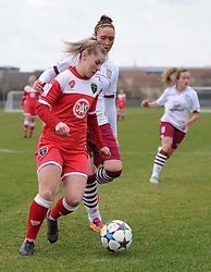Bristol Academy Womens Nikki Watts in action during the pre-season friendly between Bristol Academy Women and Aston Villa Ladies at Stoke Gifford Stadium on 1 March 2015 in Bristol, England - Photo mandatory by-line: Paul Knight/JMP - Mobile: 07966 386802 - 01/03/2015 - SPORT - Football - Bristol - Stoke Gifford Stadium - Bristol Academy Women v Aston Villa Ladies - Pre-season friendly