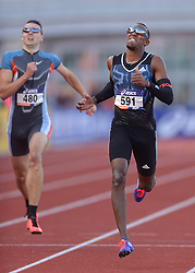 31-07-2015 NED: Asics NK Atletiek, Amsterdam<br /> Nk outdoor atletiek in het Olympische stadion Amsterdam /  Liemarvin Bonevacia wint de 400 meter