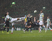 Dundee's Gary Irvine comes close with a spectacular scissor kick - Celtic v Dundee, SPFL Premiership at Celtic Park<br /> <br />  - &copy; David Young - www.davidyoungphoto.co.uk - email: davidyoungphoto@gmail.com