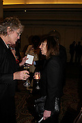 Germaine Greer and Beryl Bainbridge South Bank Show Awards, The Savoy Hotel. London. 27 January 2005. ONE TIME USE ONLY - DO NOT ARCHIVE  © Copyright Photograph by Dafydd Jones 66 Stockwell Park Rd. London SW9 0DA Tel 020 7733 0108 www.dafjones.com