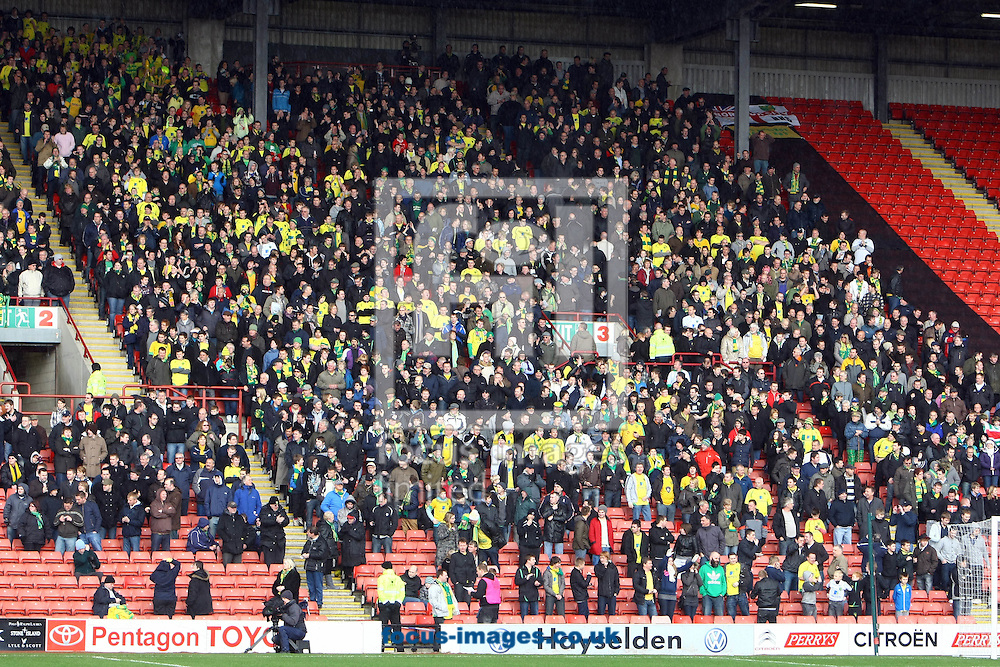 Barnsley - Saturday February 26th, 2011: The Norwich fans during the Npower Championship match at The Oakwell Stadium, Barnsley. (Pic by Paul Chesterton/Focus Images)