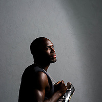 6/12/12 6:23:38 PM -- Bradenton, FL. -- Olympian LaShawn Merritt, who competes in the 400 meters, poses for a portrait at the IMG Performance Institute in Bradenton, Florida. ...Photo by Chip J Litherland, Freelance.