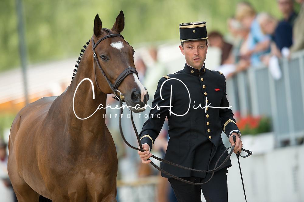 Boiteau Arnaud, (FRA), Quoriano*Ene HN<br /> First Horse Inspection <br /> CCI4* Luhmuhlen 2016 <br /> © Hippo Foto - Jon Stroud