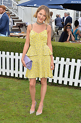TESS WARD at the Laureus King Power Cup polo match held at Ham Polo Club, Richmond on 16th June 2016.