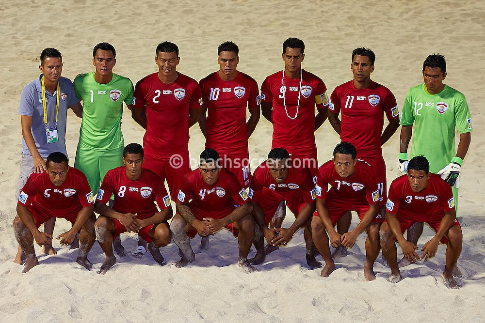 PAPEETE, TAHITI - OCTOBER 20:  FIFA Beach Soccer World Cup Tahiti 2013 between Tahiti and United Arab Emirates at Stadium Tahua To´ata  on October 20, 2013 in Papeete, Tahiti. (Photo by Manuel Queimadelos)
