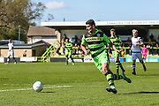 Forest Green Rovers Omar Bugiel(11) sprints forward during the Vanarama National League match between Forest Green Rovers and Maidstone United at the New Lawn, Forest Green, United Kingdom on 22 April 2017. Photo by Shane Healey.