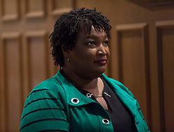 November 01, 2018 - Woodstock, Georgia, U.S. -  STACEY ABRAMS, Democratic candidate for governor of Georgia, waits to be introduced at a Get Out the Vote rally at the Allen Temple AME.(Credit Image: © Brian Cahn/ZUMA Wire)
