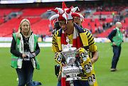 Arsenal's Kieran Gibbs after the The FA Cup match between Arsenal and Aston Villa at Wembley Stadium, London, England on 30 May 2015. Photo by Phil Duncan.