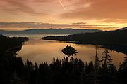Sunrise over Emerald Bay, Lake Tahoe, CA