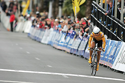 (Geelong, Australia---29 September 2010)  Kimberley Yap of Malaysia racing to the finish in the Elite Women's Time Trial at the 2010 UCI Road World Championships held in Geelong, Victoria, Australia. [2010 Copyright Sean Burges / Mundo Sport Images -- www.mundosportimages.com]