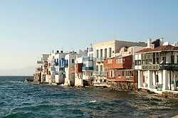 Mykonos is a Greek island, part of the Cyclades, lying between Tinos, Syros, Paros and Naxos. The island spans an area of 85.5 km² and rises to an elevation of 341 m at its highest point.