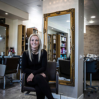 Picture show Lindsey Young at her Salon in Longridge, Near Preston<br /> Pictures by Paul Currie<br /> www.paulcurriephotos.com<br /> 07796 146931