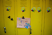 Art adorns the locker of students in Courtney Jackson's third grade class at Adelaide Davis Elementary School on Nov. 26, 2012 in Washington, D.C. Last week DCPS Chancellor Kaya Henderson proposed closing 20 under-enrolled schools in the District. Davis Elementary is one of 20 schools in the DCPS system included in the school closure proposal. ..CREDIT: Lexey Swall for The Wall Street Journal.DCSCHOOLS