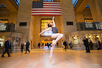 Ballerina Grand Central Terminal Concourse Dance As Art New York Photography Project featuring Jenna MacVicar