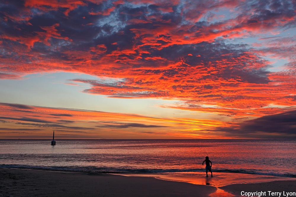 Sunset fun Cottesloe Beach