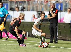 27.07.2014, Imtech Arena, Hamburg, GER, Telekom Cup, Hamburger SV vs Borussia Dortmund, im Bild Artjoms Rudnevs (Angriff / HSV / n16), Patrick Herrmann (Mittelfeld / Moenchengladbach / n7), // during the Telekom Cup Match between Hamburger SV and Borussia Dortmund at the Imtech Arena in Hamburg, Germany on 2014/07/27. EXPA Pictures © 2014, PhotoCredit: EXPA/ Eibner-Pressefoto/ dap<br /> <br /> *****ATTENTION - OUT of GER*****