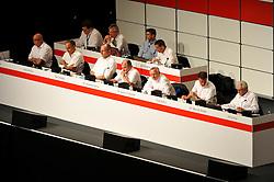 22.07.2013, Porsche-Arena, Stuttgart, GER, 1. FBL, VfB Stuttgart Mitgliederversammlung, im Bild Podium Vorstand und Aufsichtsrat v.li.:, Rudolf ZIPF, Hansi MÜLLER, Ralf KLÖPFER, Dr. Eduardo GARCIA, Aufsichtsratsvorsitzender Dr. Joachim SCHMIDT, Manager Fredi BOBIC, Dr. Werner KESSLER, ,  // during General Assembly of German Bundesliga Club VfB Stuttgart at the Porsche-Arena, Stuttgart, Germany on 2013/07/22. EXPA Pictures © 2013, PhotoCredit: EXPA/ Eibner/ Michael Weber<br /> <br /> ***** ATTENTION - OUT OF GER *****