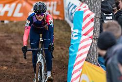 NUSS Raylyn (USA) during Women Elite race, 2019 UCI Cyclo-cross World Cup Heusden-Zolder, Belgium, 26 December 2019.  <br /> <br /> Photo by Pim Nijland / PelotonPhotos.com <br /> <br /> All photos usage must carry mandatory copyright credit (Peloton Photos | Pim Nijland)