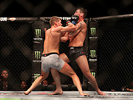 Darren Till (right) in action against Stephen Thompson during UFC Fight Night at the Liverpool Echo Arena.