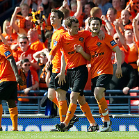 Ross County v Dundee United.....15.05.10   Scottish Cup Final<br /> Craig Conway celebrates his second goal with David Robertson<br /> Picture by Graeme Hart.<br /> Copyright Perthshire Picture Agency<br /> Tel: 01738 623350  Mobile: 07990 594431