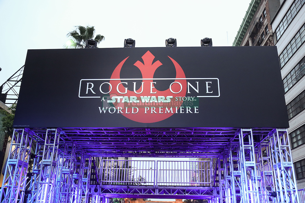 World Premiere Of Walt Disney Pictures And Lucasfilm's 'Rogue One: A Star Wars Story' at the Pantages Theatre on December 10, 2016 in Hollywood, California. 10 Dec 2016 Pictured: Atmosphere. Photo credit: Image Press/MEGA TheMegaAgency.com +1 888 505 6342