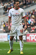 Picture by David Horn/Focus Images Ltd +44 7545 970036.29/09/2012.Charlie Macdonald of Milton Keynes Dons during the npower League 1 match at stadium:mk, Milton Keynes.
