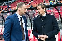 ALKMAAR - 02-04-2016, AZ - PSV, AFAS Stadion, 2-4, AZ trainer John van den Brom, PSV trainer coach Phillip Cocu