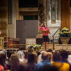 Lisa Johnston | lisajohnston@archstl.org | Twitter: @aeternusphoto<br /> <br /> Gianna Emanuela, daughter of St. Gianna Beretta Molla, visited St. Louis to spread the message of her saint mother's legacy. The visit was sponsored by the Pro-Life Ministray at St. Gianna Parish in Wentzville. Gianna completed her visit to St. Louis with Mass at the Cathedral followed by a talk and reception in Boland Hall.