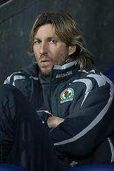 BLACKBURN, ENGLAND - Sunday, December 9, 2007: Blackburn Rovers' Robbie Savage before the Premiership match against West Ham United at Ewood Park. (Photo by David Rawcliffe/Propaganda)