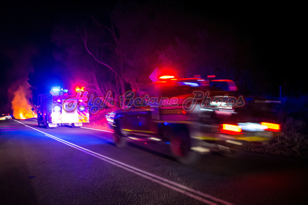 Car (looked like possibly a Nissan Navara) on fire on Ankatell Road, Mandogalup at approximately 10:40pm Wednesday 25th March, 2015.<br />