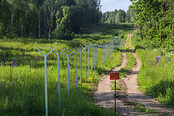 June 17, 2017 - Vistytis, Lithuania - Point of contact of three borders - Polish, Lithuanian and Russian is seen in Vistytis, Lithuania on 17 June 2017 .Tripoint is a geographical point at which the borders of three countries or subnational entities meet. (Credit Image: © Michal Fludra/NurPhoto via ZUMA Press)