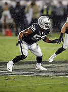 Oakland Raiders outside linebacker Khalil Mack (52) chases the action during the NFL week 12 regular season football game against the Kansas City Chiefs on Thursday, Nov. 20, 2014 in Oakland, Calif. The Raiders won their first game of the season 24-20. ©Paul Anthony Spinelli